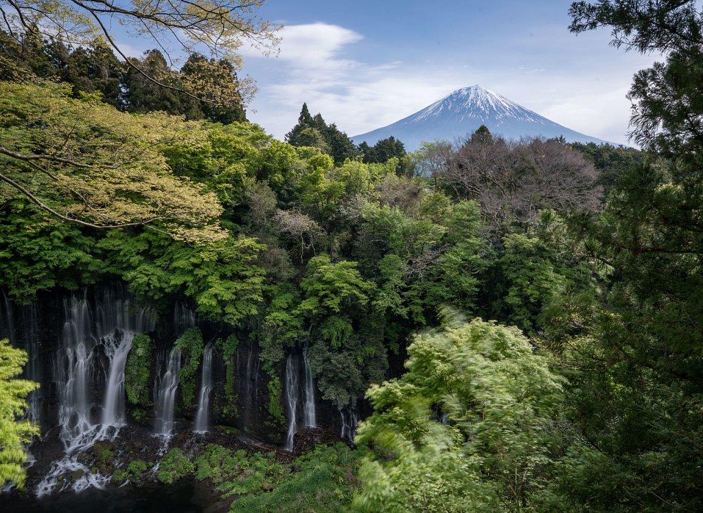 Shiraito no Taki with Mt Fuji