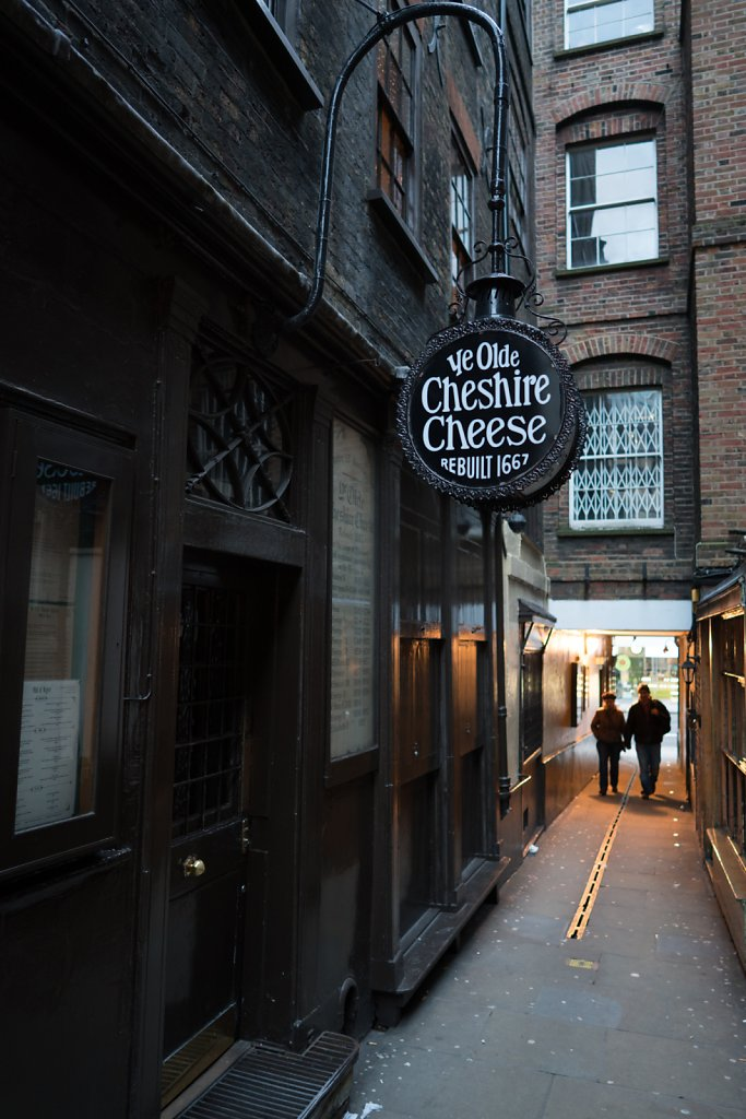 Ye Olde Cheshire Cheese—I actually visited here three times. W