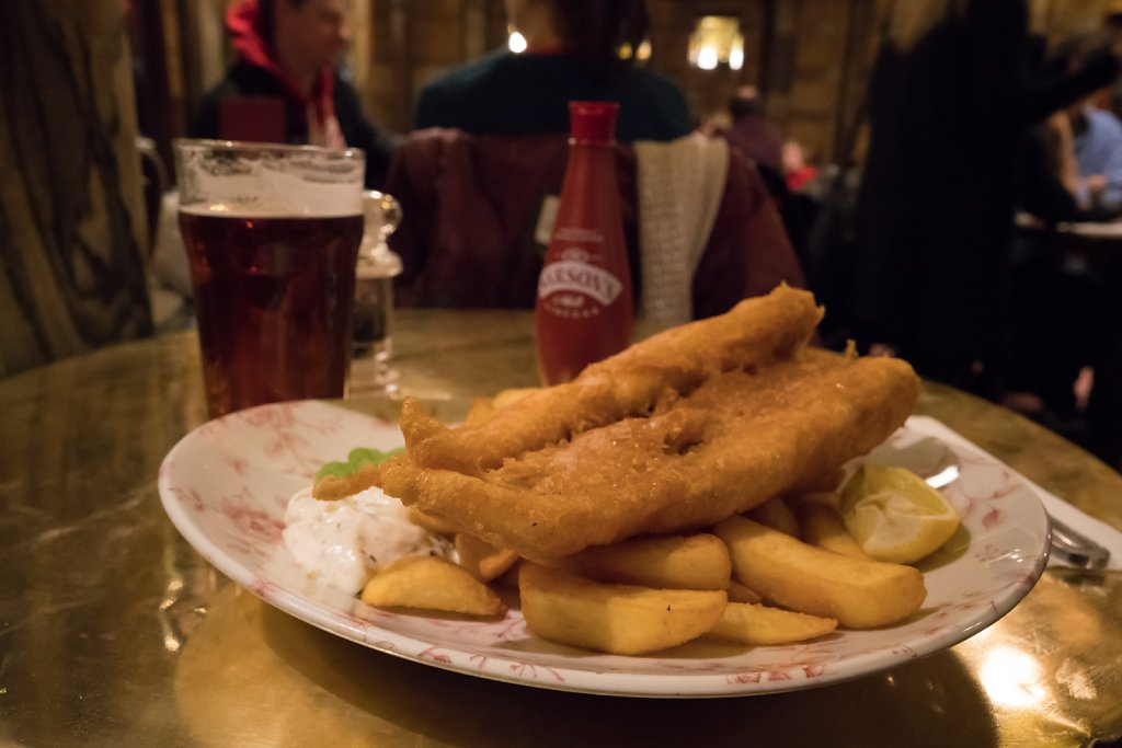Fish & chips at the Blackfriar